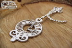 Wonderland - Clock on a chain - zegar na łańcuszku