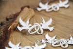 Love in 3D - doves 12 pcs- gołąbki 12 szt