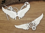 Steampunk - Flying hearts - Small chained wings - małe skrzydła w łańcuchach