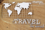 Travel the world - Map Eng - mapa ang.