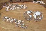 Travel the world - Globe Eng - Glob napis ang