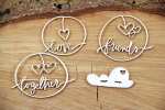 Clouded hearts - together - chipboard set