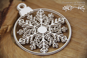 Flowers of Winter - 2 layers Bauble - 2 warstwowa bombka