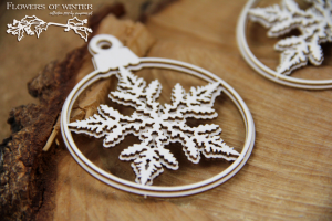 Flowers of Winter - two 2-layers baubles - dwie 2-warstwowe bombki