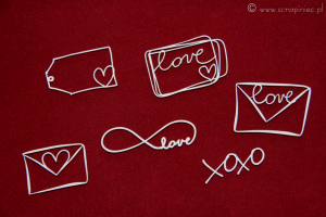 Brush art elements - love letters