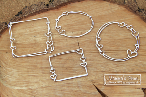 Mammas heart - Set of frames - zestaw ramek