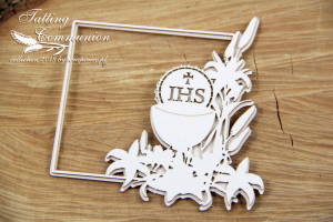 Tatting Communion - 2 layers Square frame - dwuwarstwowa kwadratowa ramka