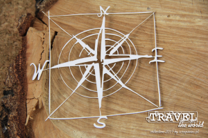 Travel the world - frame - compass rose - róża wiatrów